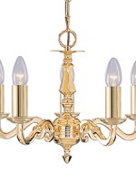 Seville polished brass 5 light