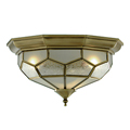 Flush Light Fitting Antique Brass/Bronze