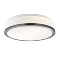 Flush Light Fitting satin silver