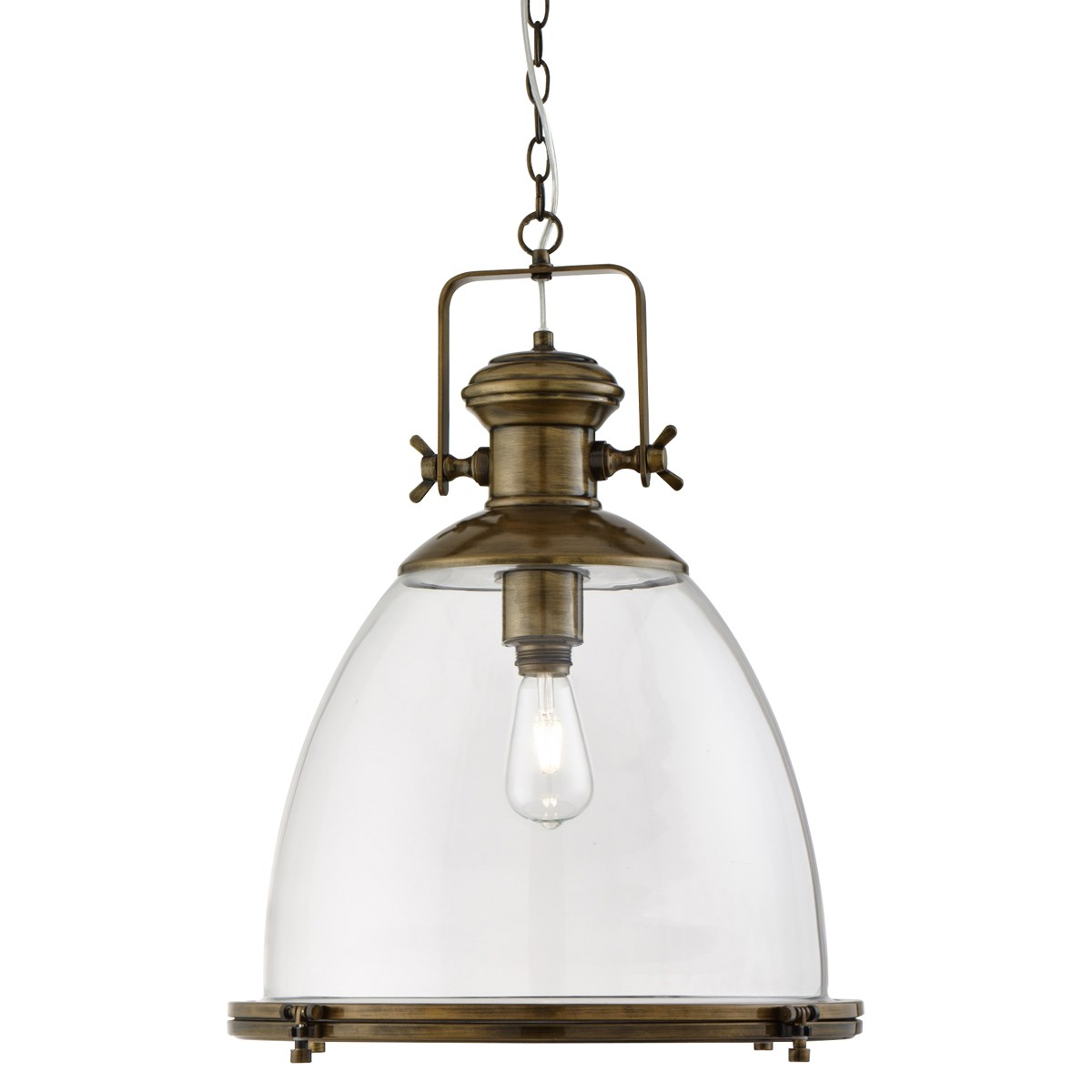 Industrial antique brass and glass pendant lumina lighting industrial antique brass and glass pendant aloadofball Choice Image
