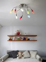 Multi arm Light Fitting, coloured