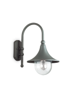 ideal lux outdoor anthracite wall light